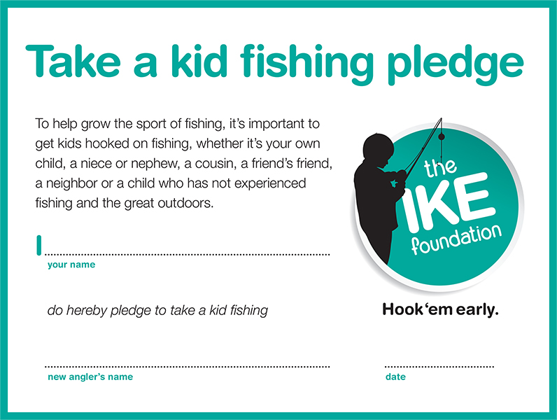 take a kid fishing pledge