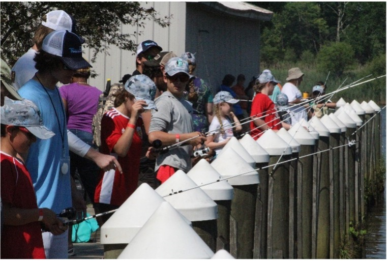 Kids fishing on the Chesapeake | The Ike Foundation